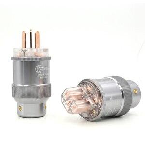 Image 1 - Hi End Rood koper AU netsnoer Australië standaard stekkers + IEC Connector voor Hifi audio diy power kabels