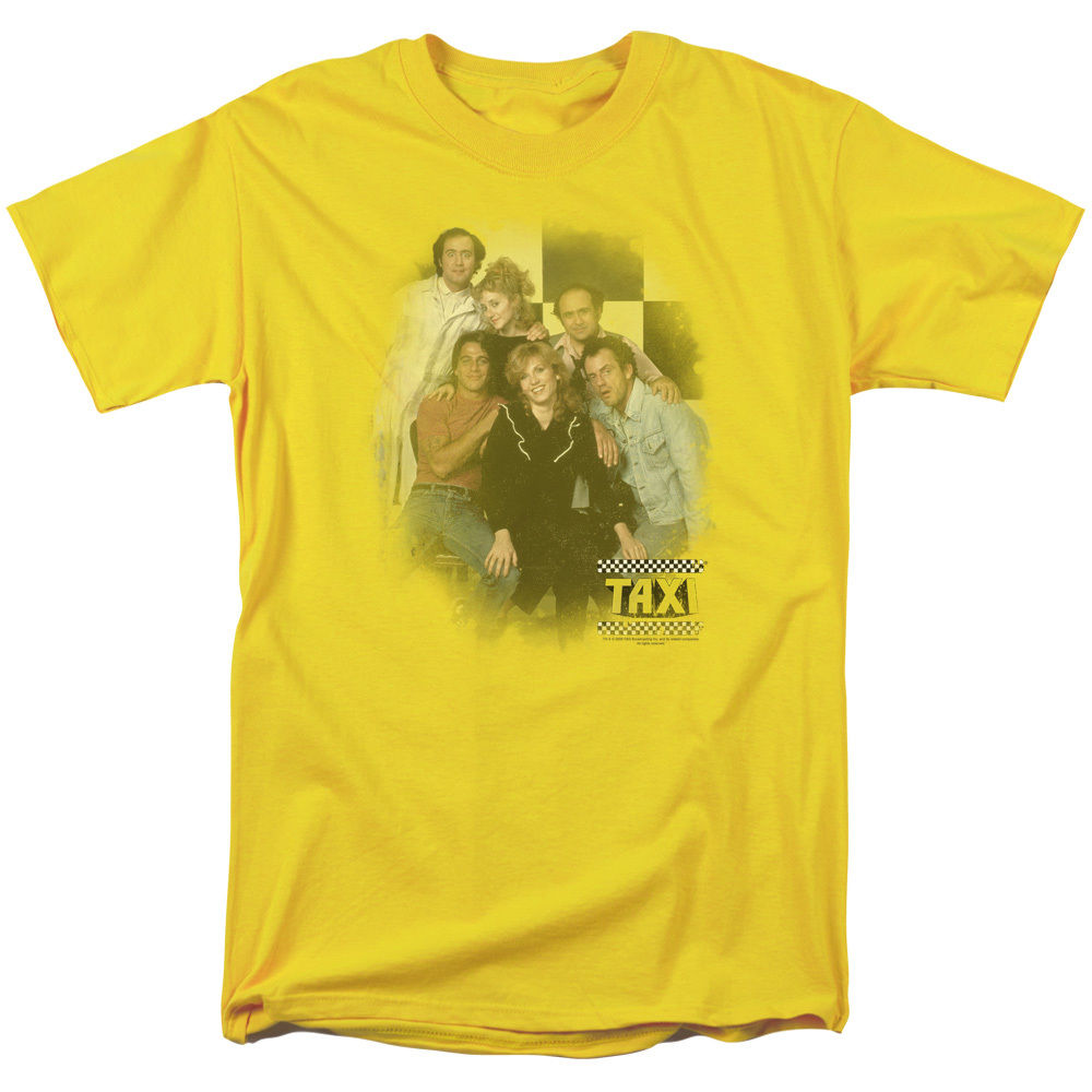 Taxi TV Show Cast SUNSHINE CAB Vintage Style Adult T-Shirt All Sizes Streetwear Funny Print Clothing Hip-Tope Mans T-Shirt