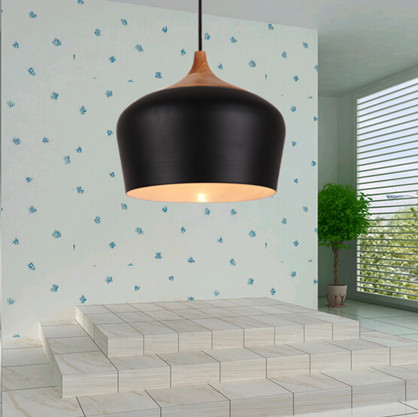 Modern brief black Pendant lights indoor/outdoor painted aluminum art lamp E27 led lamp for aisle&corridor&porch&stairs BT298 southeast asia style hand knitting bamboo art pendant lights modern rural e27 led lamp for porch