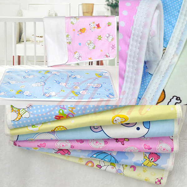 100 Cotton Filler Urineproof Breathable Kids Urine Mattress Baby Changing Diapers Sheets Waterproof Pads Bed
