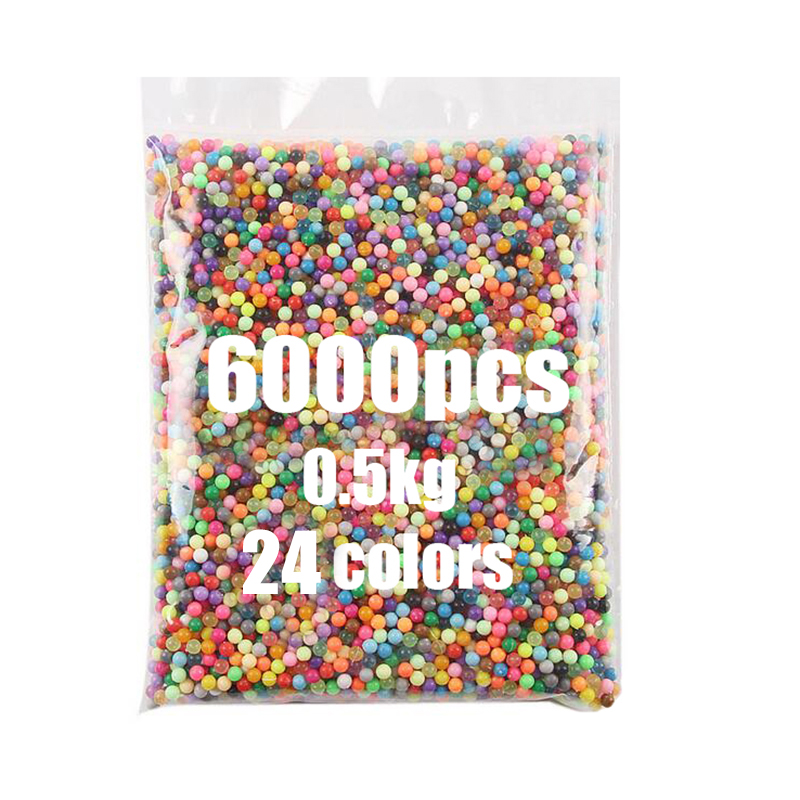 6000pcs 24 Colors 0.5kg Magic Aqua Beads 5mm Tangram Jigsaw 3D Puzzle Aquabeads Perlen Kids Educational Puzzle Toys Hama Beads
