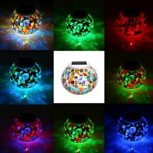 Image 4 - צבע שינוי שמש מופעל זכוכית כדור גן אור חיצוני דקורטיבי שולחן אורות קמפינג ציוד רב כלי חיצוני