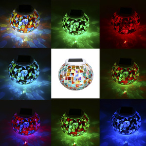 Image 4 - Color Changing Solar Powered Glass Ball Garden Light Outdoor Decorative Table Lights Camping Equipment Multi Tool Outdoor Tools