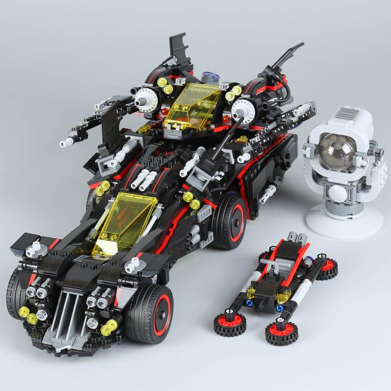 07077 1496pcs Batman Movie Ultimate Batmobile Set Model Building Blocks Bricks Toys for Boy Compatible Legoe 70917 Lepine lepine model