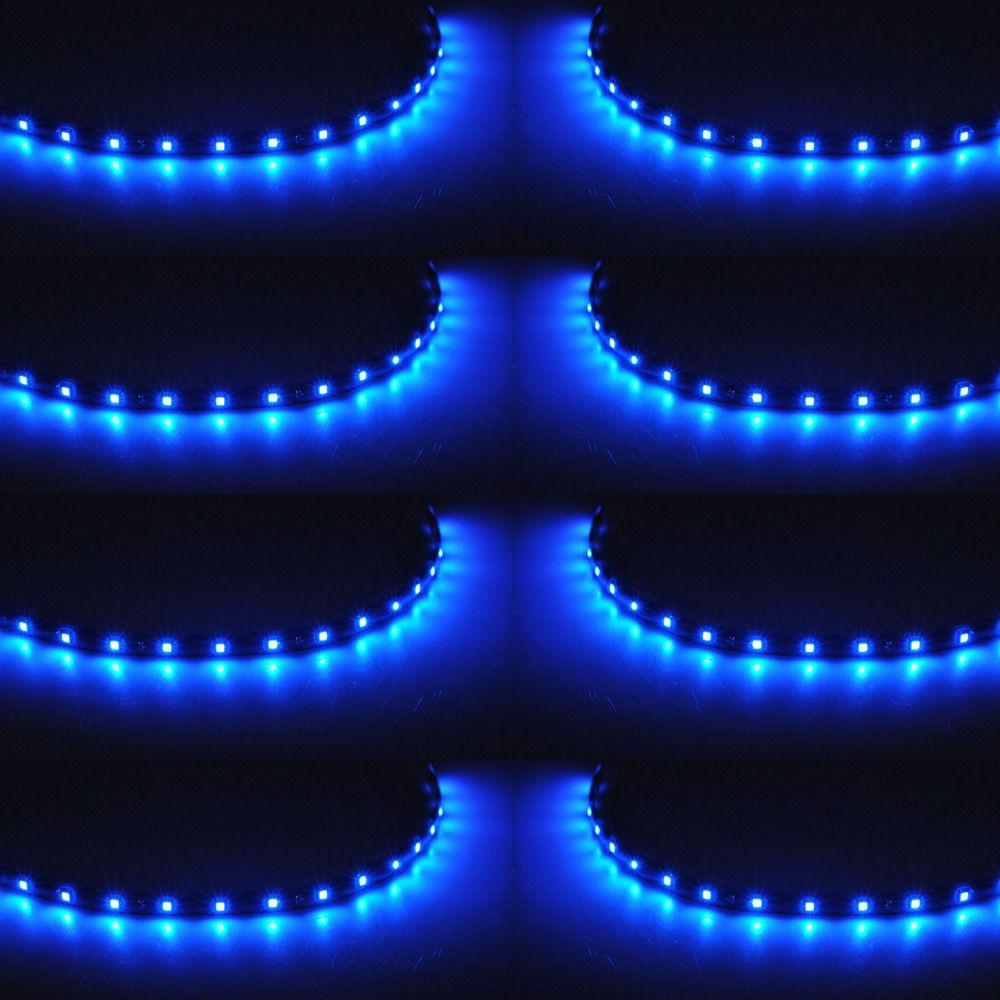 EE suporte 8 Pcs 15 LED 12 V 30 CM Luzes Grill Flexível À Prova D - Faróis do carro - Foto 2