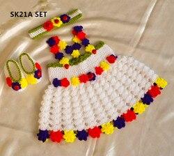 Summer Blooms Baby dress crochet