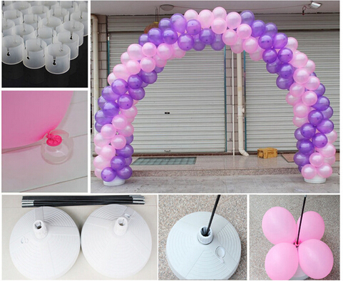 free shipping wedding balloon arches kit portable frame balloon stand base party decorationchina
