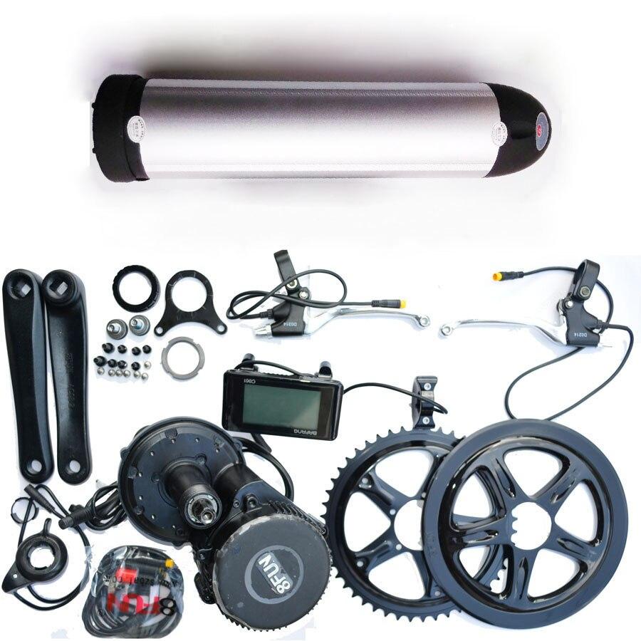 Bafang BBS02 48 V 750 W Ebike moteur de vélo électrique 8fun mid drive kit de conversion de vélo électrique + batterie 48 V 13Ah lithium ebike