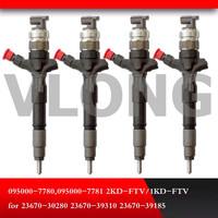 Common rail Injector 095000-7780 095000-7781 095000-8290 23670-0L050 para 23670-30280 23670-39310 23670-39185