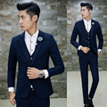 3Piece latest coat pant designs men suit quality slim fit wedding dress for men terno masculino mens suits(Jacket+Pant+Vest) Hot