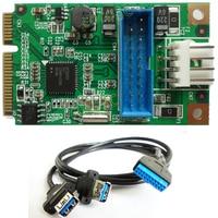 Mini PCIe To Dual USB 3 0 Adapter Mini PCI E To 19Pin USB3 0 Header