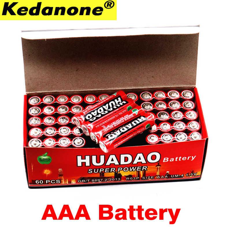 100% nouvelle batterie haute capacité 1.5 v piles au carbone AAA coffre-fort anti-déflagrant 1.5 volts AAA batterie UM4 batterie sans mercure