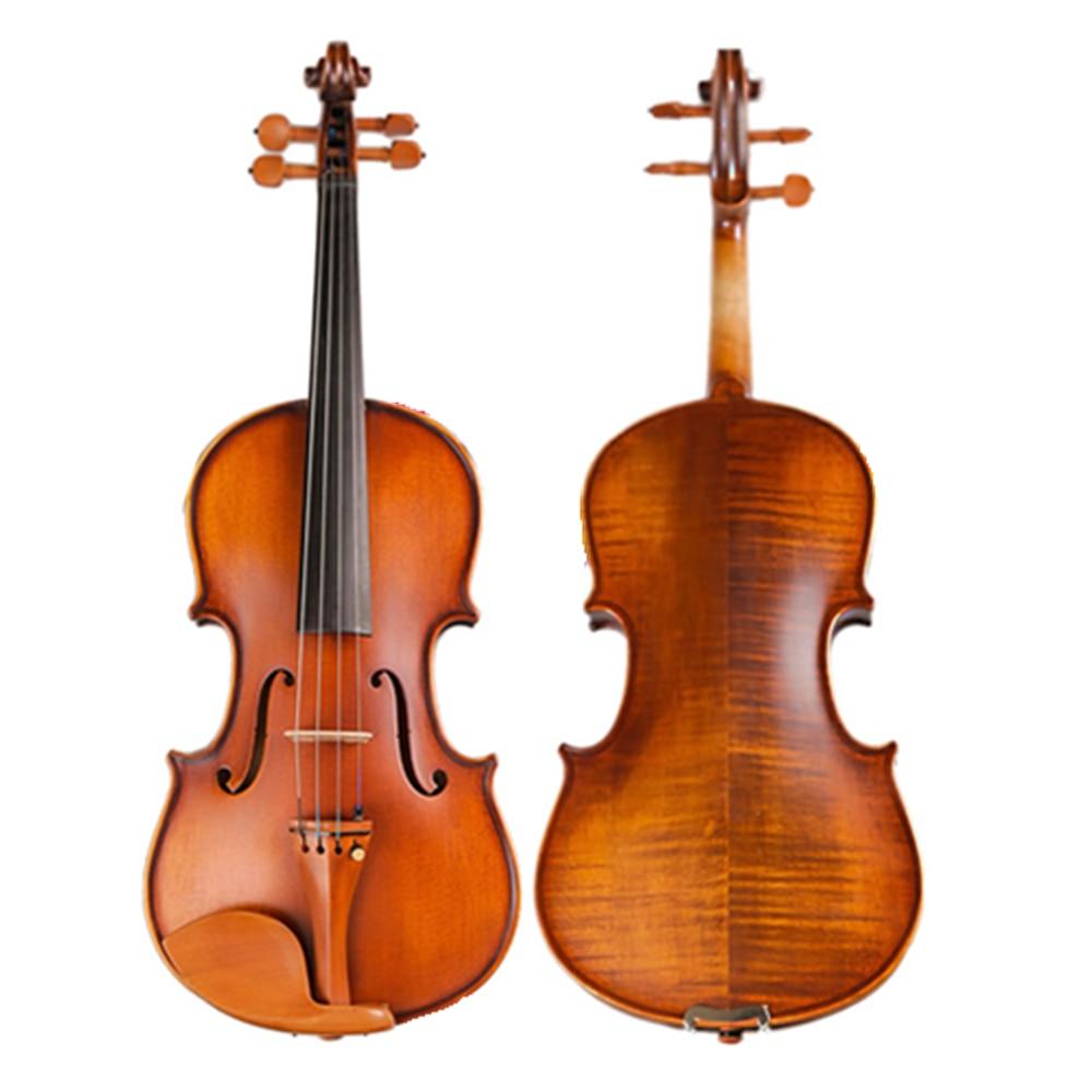 Профессиональный ручной ремесло Мэтт скрипка природных полосы клен 4/4 High end антикварный Violino струнные музыкальный инструмент TONGLING бренд