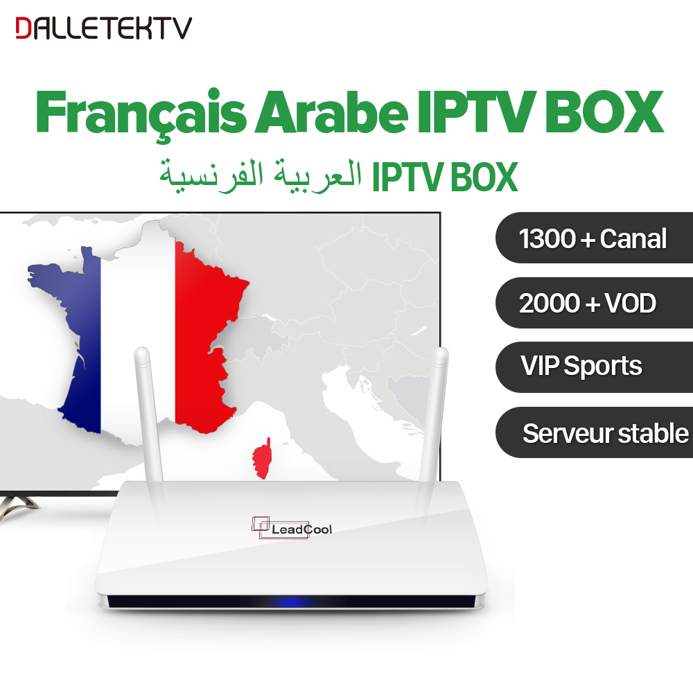 QHDTV Arabic French IPTV Box Android Leadcool 1 Year IPTV Subscription France Arab Sports VIP Dutch Belgium French IP TV Box