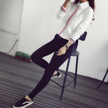 Hot Sale 2019 Spring Summer Women Office Lady Formal Button Down Long Sleeve School Blouse Cotton Soft Casual White Shirt Tops 3