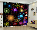 3D Красочные фейерверки окна занавески для спальни постельных принадлежностей