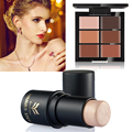 6 Colors Concealer Makeup Palatte + Brand Make up Highlighter Shimmer Stick Beauty Tools Highlighter Contour Water-proof Powder