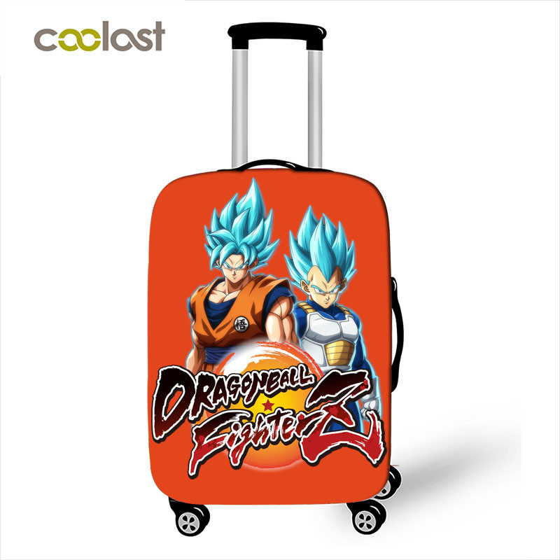 ff37f43c6f16 Anime Dragon Ball Luggage Protective Cover Travel Accessories Saiyan Goku  Vegeta Elastic Anti-dust Suitcase Cover For 18-28 Inch