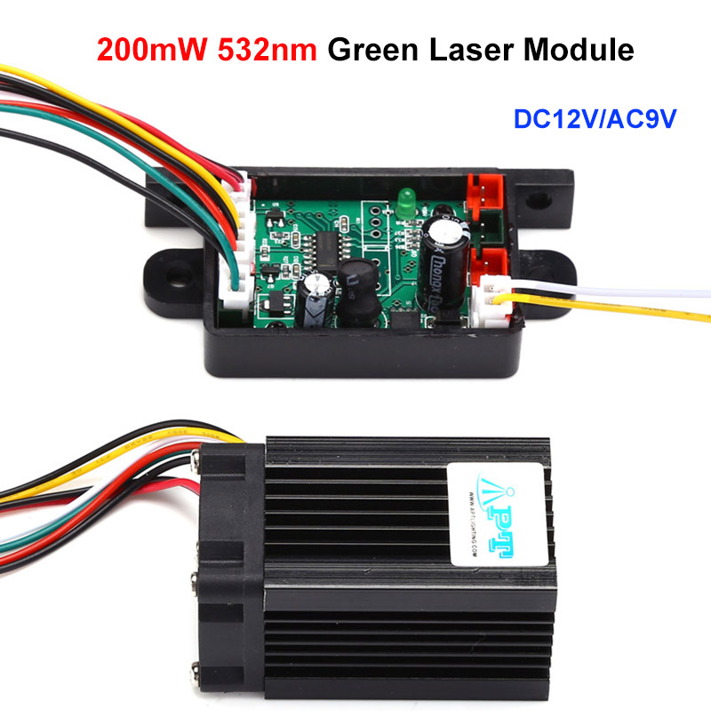 532nm 200mW Fat Beam Steady Green Laser Module/DIY Laser Stage Lighting
