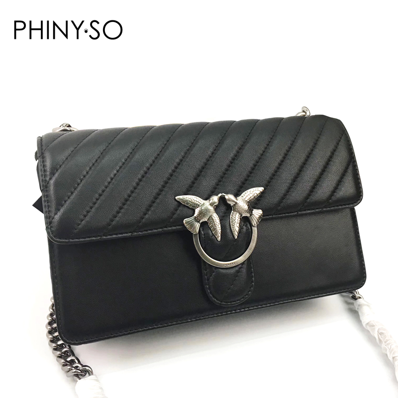 2018 Newest Famous designer brand women bag Chains Swallow lock Messenger Bags genuine leather handbag original quality L size