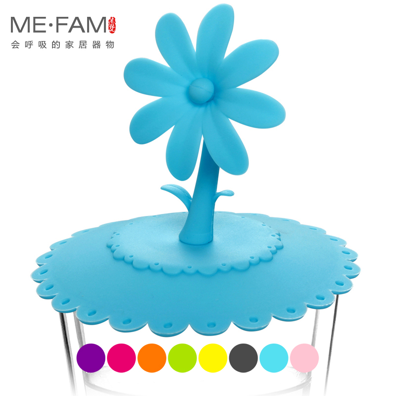 ME.FAM New 1 Pieces Cute 3D Lace Flower Sunflower Silicone Cup Lid 10.5 Cm Seal Dust-proof Cover For Glass Ceramic Plastic Mug