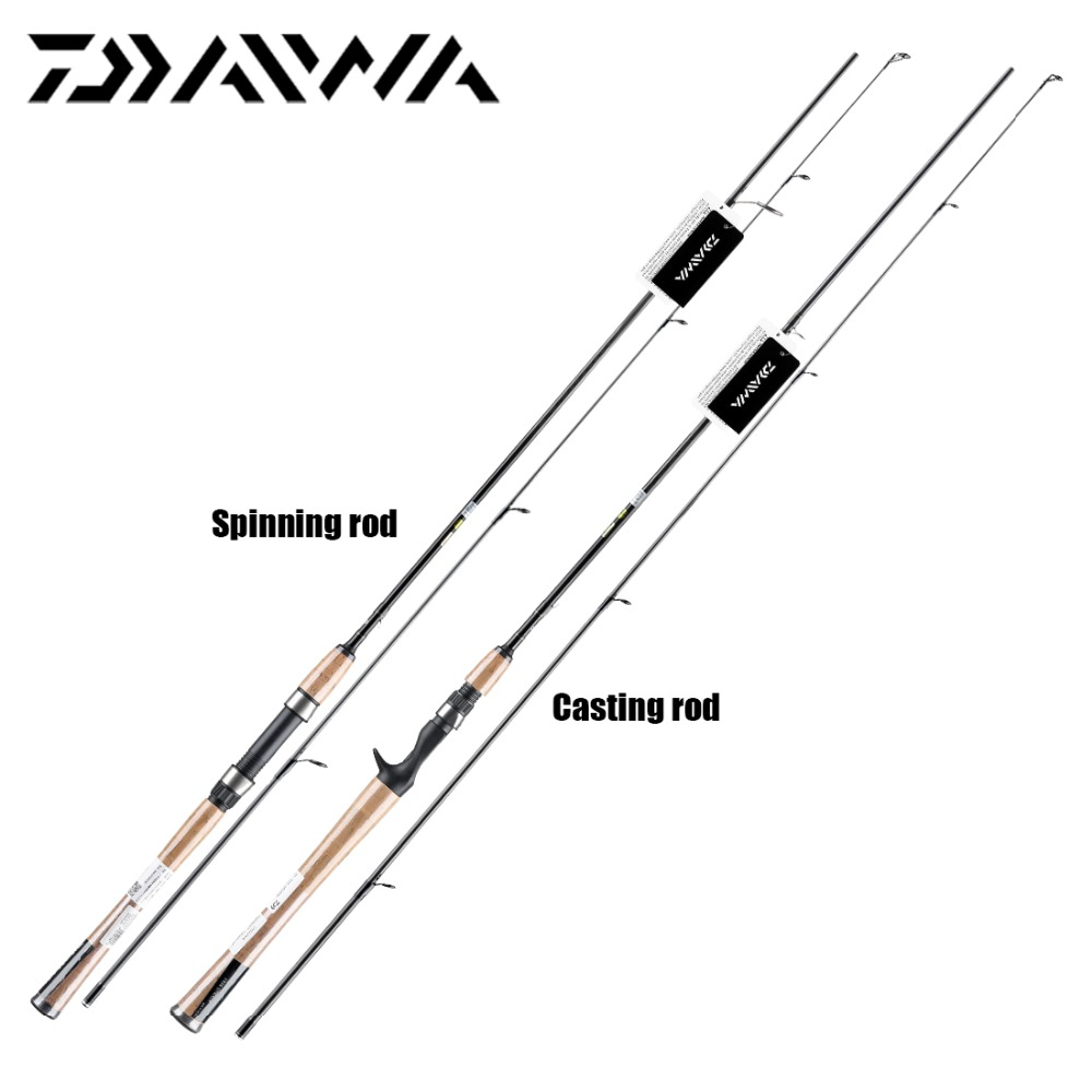 Original DAIWA CROSSFIRE 662MFB Spinning Casting Fishing Rod Fast Action M MH Power 1.98 2.13M Aluminum Carbon Fishing Stick(China)