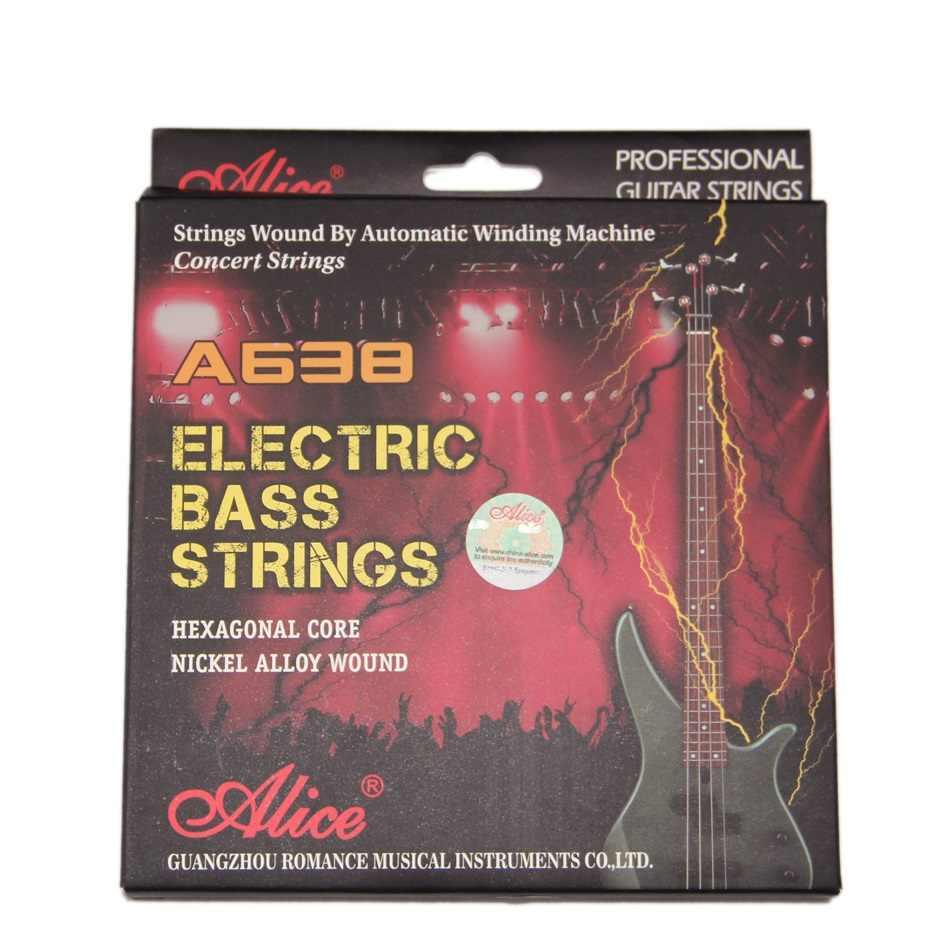 Alice электрическая басовая струна A638L стальная басовая струна s струны из никелевой стали легкие Струны для электрической бас-гитары супер качество