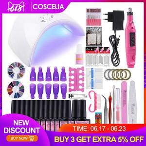 Nail Art Set 36W UV Led Lamp Dryer With 6/10/12 Color Gel Nail Polish Set Kit Nail Tools Gel Varnish Manicure Tools Kit