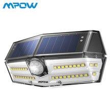 Mpow 40 светодиодный солнечный свет уличный датчик движения огни 24.5% высокоэффективных Панели солнечные IP66 Водонепроницаемый 270 супер Широкий формат лампа