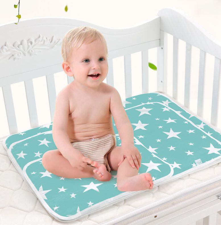 1PC New Urine Insulation Mattress Baby Insulation Supplies Cotton Cartoon Waterproof Breathable Washable Urine Pad Large Size