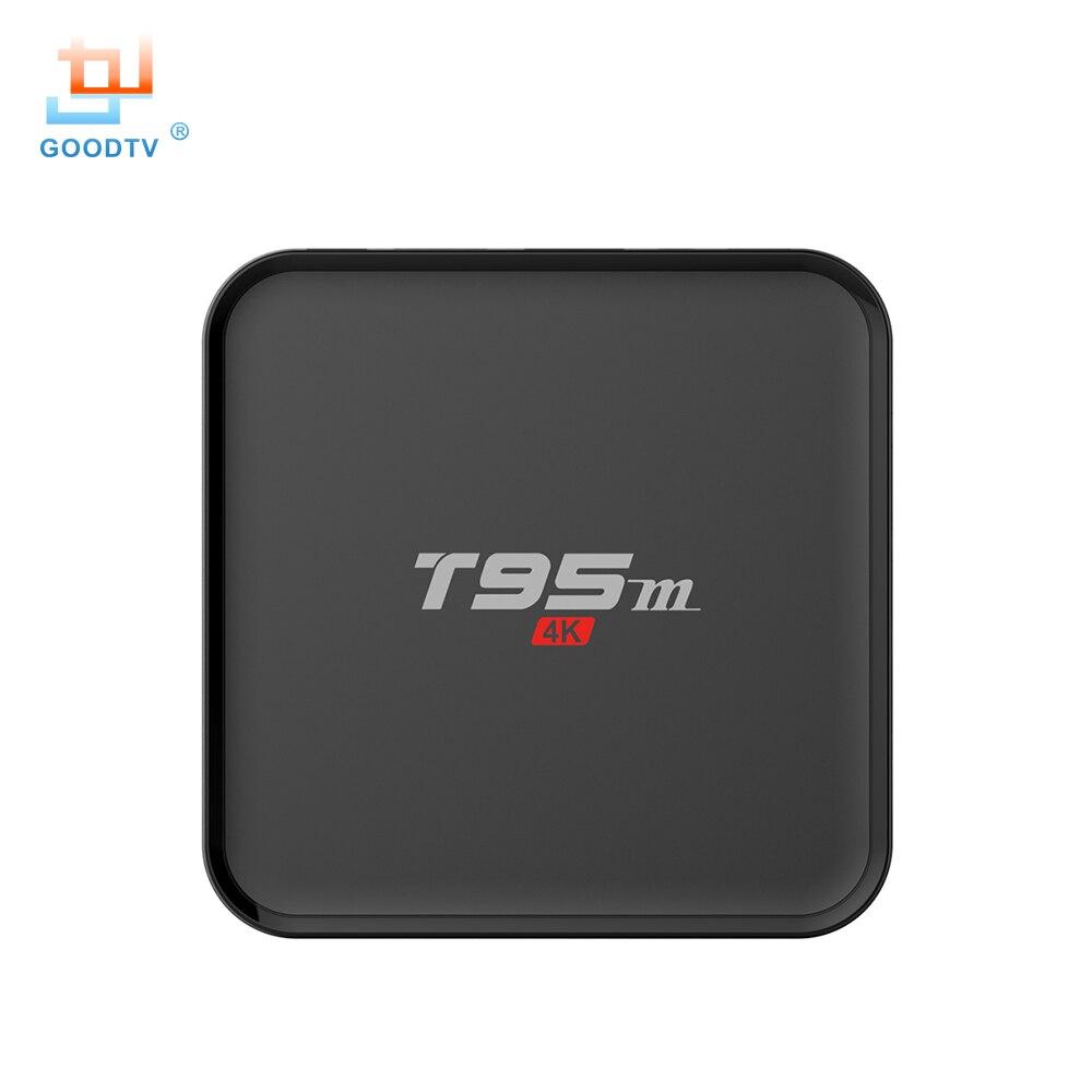 T95M Android TV Box 2 GB/8 GB Construido En 2.4G 5G WiFi Amlogic S905X KODI 16.0