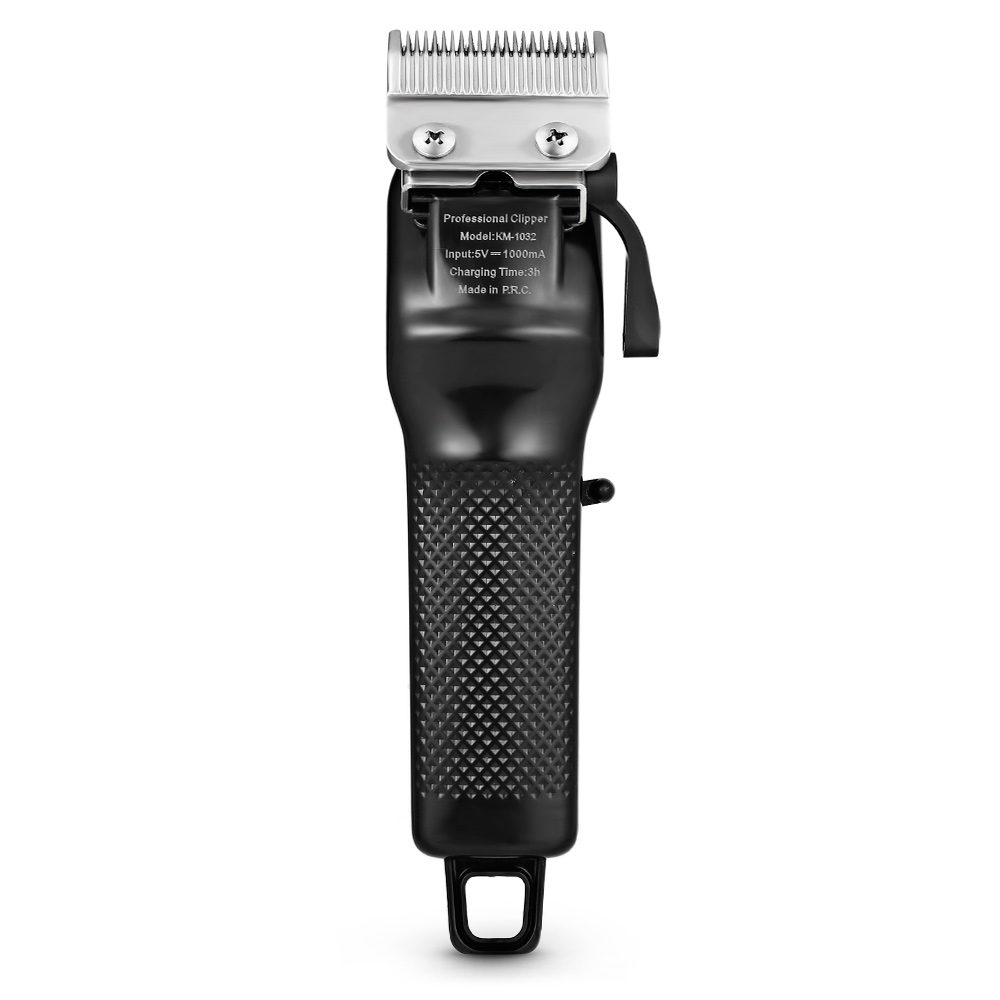 Kemei KM 1032 Adjustable Cordless Powerful Motor Hair Clipper with 4 Guide  Comb Rechargeable Dual use Hair Trimmer Z30-in Hair Clippers from Home  Appliances ...