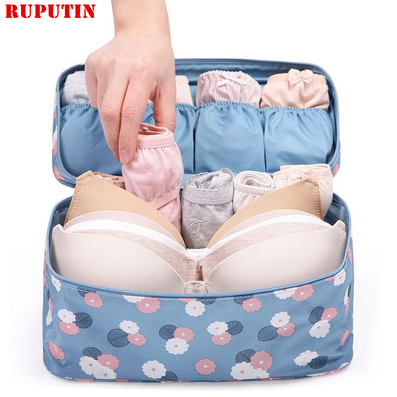 RUPUTIN 2018 New Travel Bra Bag Underwear Organizer Bag Cosmetic Daily Toiletries Storage Bag Women's High Quality Wash Case Bag
