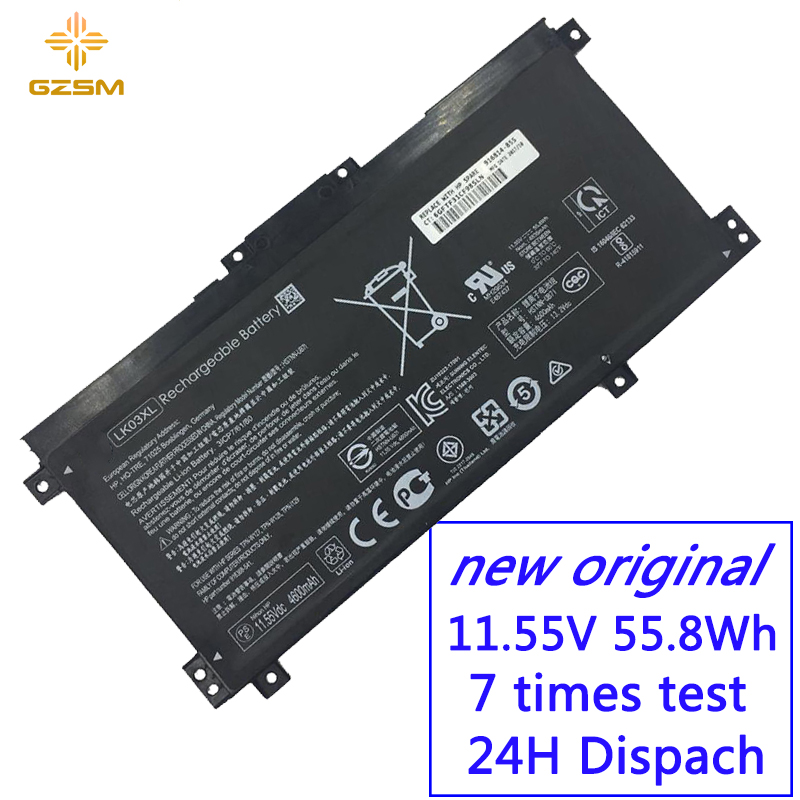 GZSM Laptop Battery LK03XL For HP HSTNN-UB7I Battery For Laptop TPN-W127 W128  LK03055XL TPN-1129 HSTNN-LB7U Laptop Battery