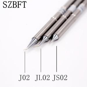 Image 1 - SZBFT 1 adet t12 İpuçları gümüş T12 J02 JS02 JL02 kolu havya İpuçları 155mm uzunluk kaynak lehim istasyonu ucu değiştirin