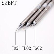 SZBFT 1pc t12 טיפים כסף T12 J02 JS02 JL02 ידית מלחם טיפים 155mm אורך ריתוך הלחמה תחנה טיפ להחליף