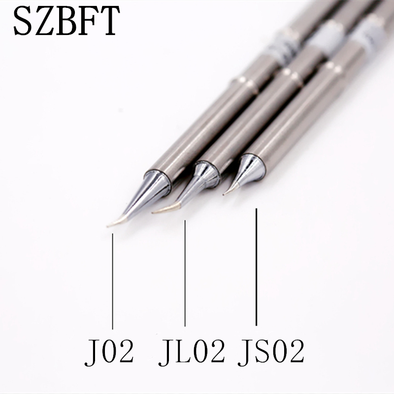 SZBFT 1pc T12 Tips Silver T12 J02 JS02 JL02 Handle Soldering Iron Tips 155mm Length Welding Solder Station Tip Replace