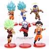 Dragon Ball Super vol.9 Super Saiyan God Super Goku Vegeta Kale Frieza Son Gohan Jiren PVC Figures Toys 6pcs/set with Retail Box