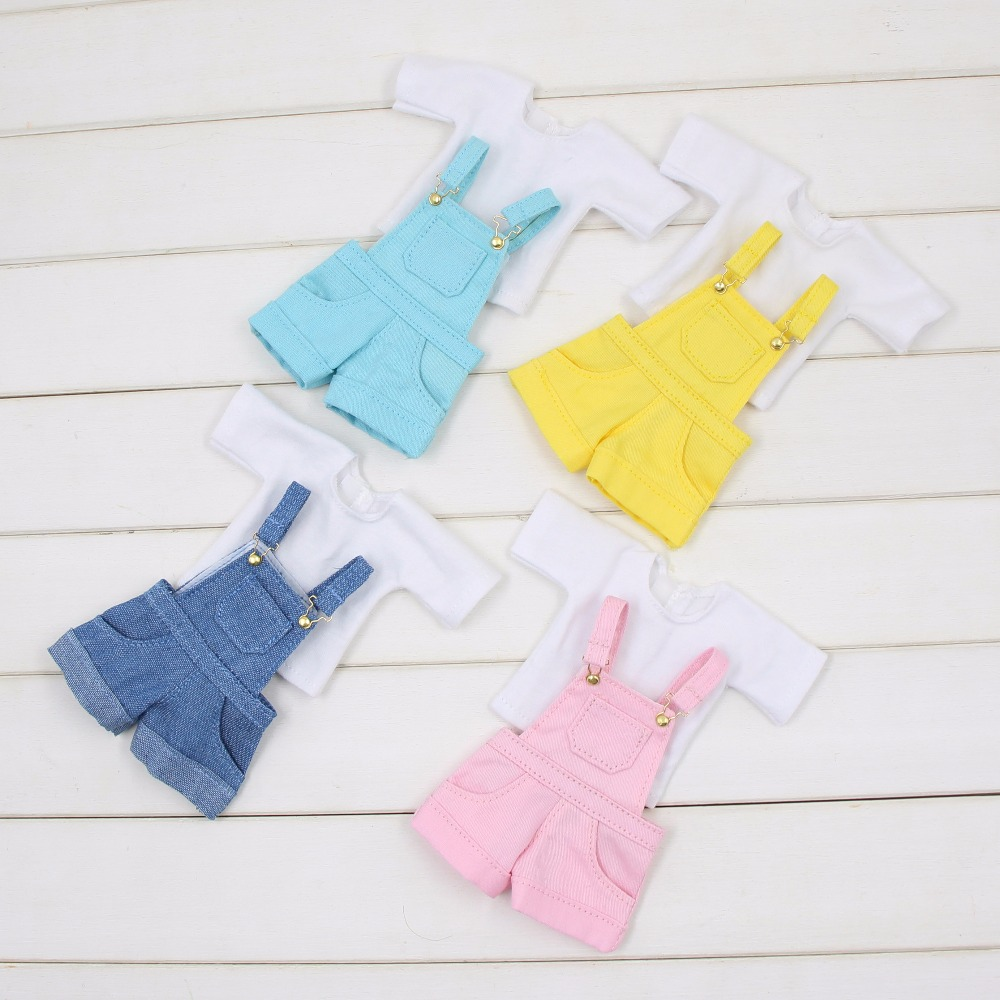 fortune days for blyth doll icy licca, new jumpsuit Rompers pink blue yellow clothes oversize white shirt cute outfits yellow days montreal