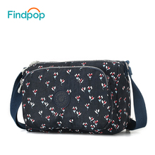 hot deal buy findpop flower printing women crossbody bags designer fashion casual crossbody bags for women 2018 new waterproof shoulder bags
