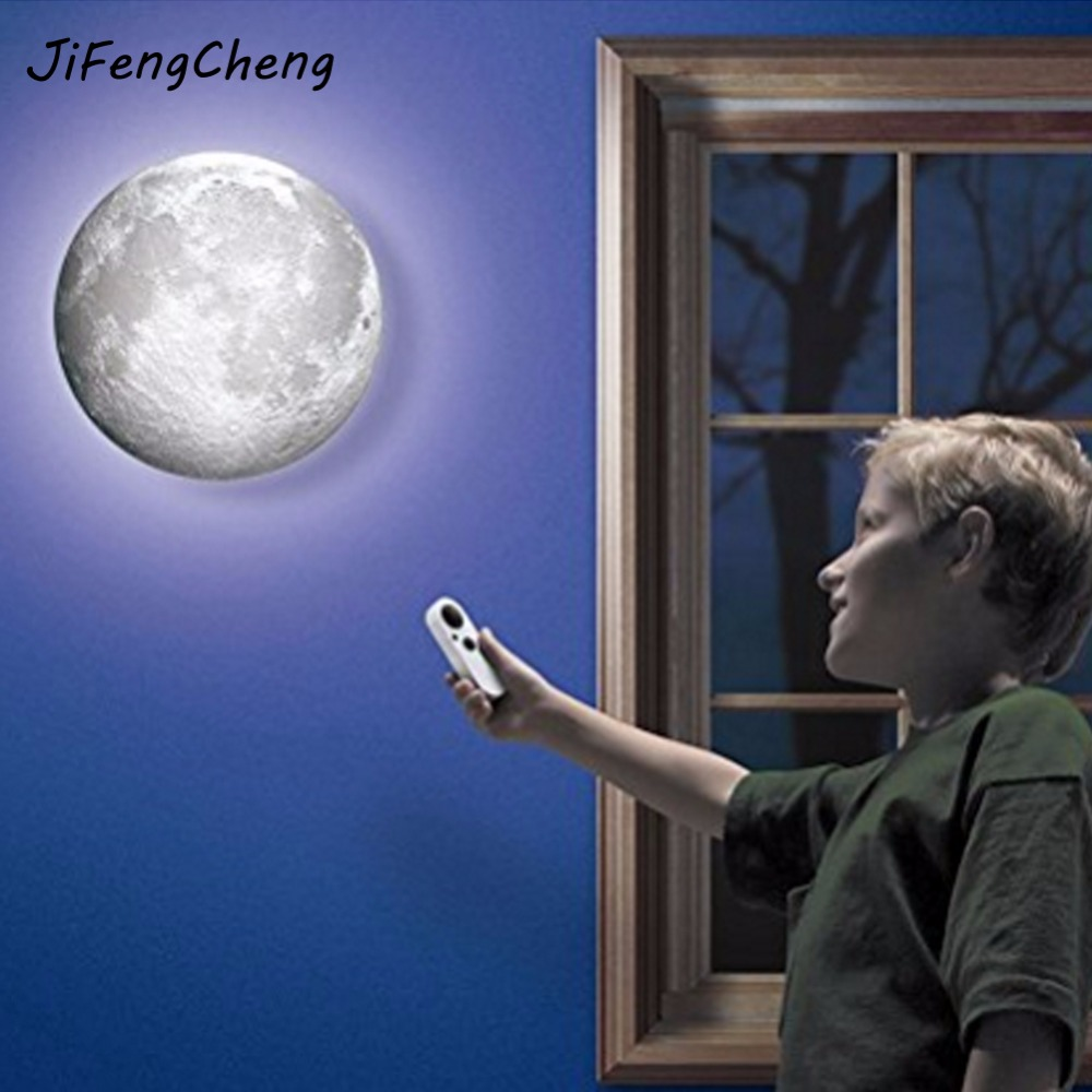 JiFengCheng Remote control moonlight lantern light creative romantic wall lamp Wall decoration lights