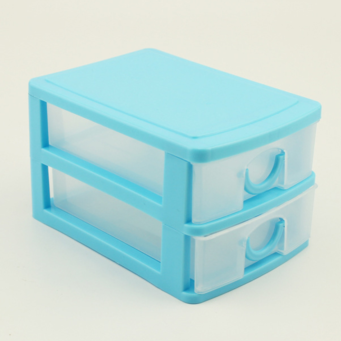 TSSAAG Candy Color Three Layers Mini Draw-out Desk Storage Box Container - Pink