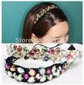2014 new Wholesale and Retail fashion bohemian colorful handmade crystal beads elastic hairband headband hair accessories