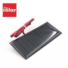 5,5 В, 70 мА/ч, солнечная панель, сделай сам, зарядное устройство, внешний аккумулятор, маленькая мини солнечная батарея, подключаемый светодиодный кабель, игрушка, 5,5 В, вольт, 5 В