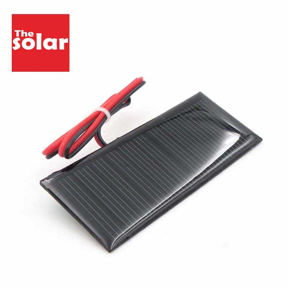 5.5 V 70 mAh Solar Panel DIY Battery Charger Powerbank Small Mini Solar Cell Connect LED cable toy 5.5V Volt 5v