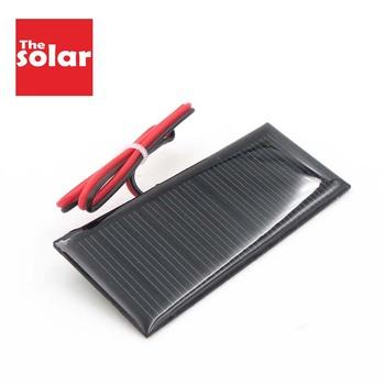 5 5 V 70 mAh Panel słoneczny DIY ładowarka Powerbank mały Mini ogniwo słoneczne podłącz kabel LED zabawka 5 5 V Volt 5v tanie i dobre opinie SLAR Ogniwa słoneczne 20 Krzem polikrystaliczny Sunpower C60 80X35 70mA 0 39Watt