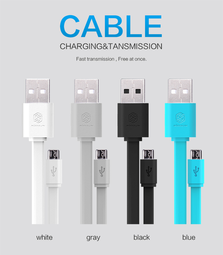 product 120cm New Original Nillkin Micro USB 2.0 5V/2A top speed Charging Cable For Samsung Sony Lenovo HTC xiaomi HUAWEI LG +package