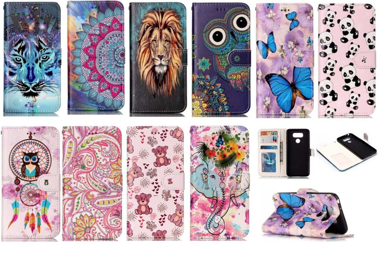 Case for LG G6 PU+TPU Case for LG G6 H870 H871 H872 H873 H870K/S LS993 US997 VS998G/P/T/W H600S/K/L Embossed Varnish phone bag