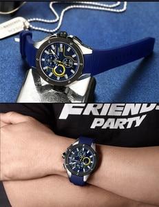 Image 4 - Relogio Masculino MEGIR Men Watch Top Luxury Brand Chronograph Calendar Sports Wristwatch Military Army Rubber Male Clock 2053