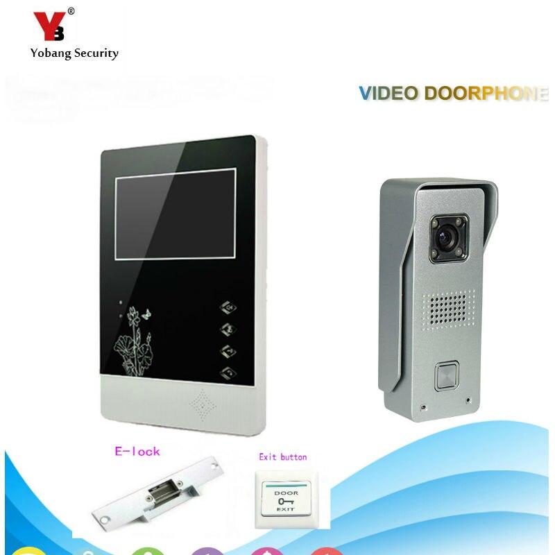 """Yobang Security  4.3 """"Video Door Color +Electric lock Kit Video Door Phone Video Intercom Doorbell phone Night Vision door bell"""